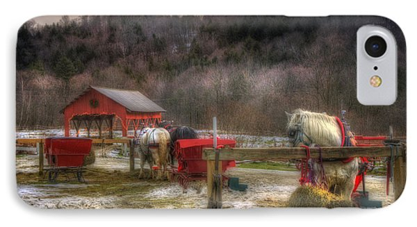 Horse And Carriage Ride - Stowe Vermont IPhone Case by Joann Vitali