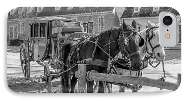 IPhone Case featuring the photograph Horse And Carriage  by Trace Kittrell