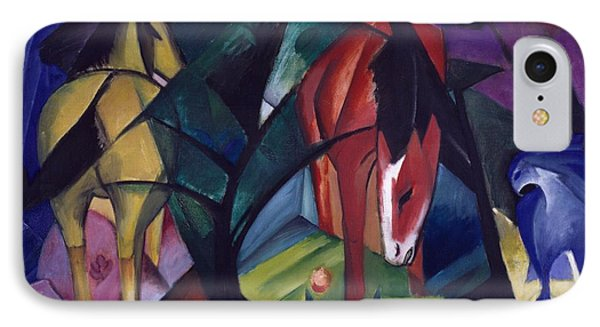 Horse And Eagle IPhone Case by Franz Marc