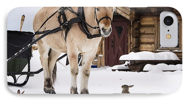 Horse And Rabbits IPhone Case