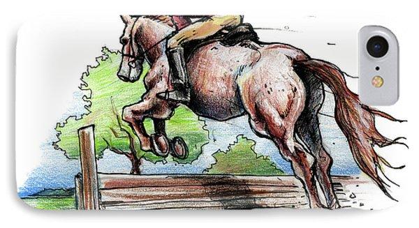 Horse And Rider Phone Case by John Ashton Golden