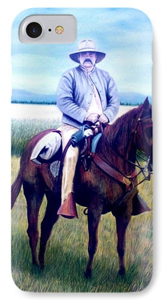 Horse And Rider IPhone Case by Stacy C Bottoms