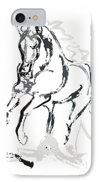 Horse- Andalusian Angel Phone Case by Go Van Kampen