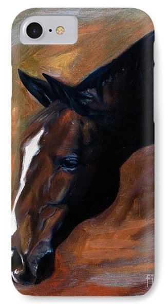 horse - Apple copper IPhone Case by Go Van Kampen
