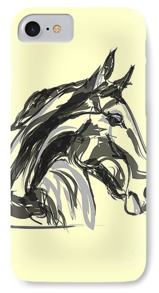 horse - Apple digital IPhone Case by Go Van Kampen