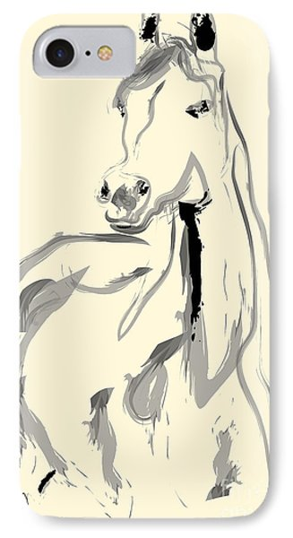 Horse - Arab IPhone Case by Go Van Kampen