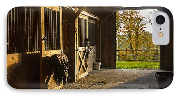 Horse Barn Sunset IPhone Case