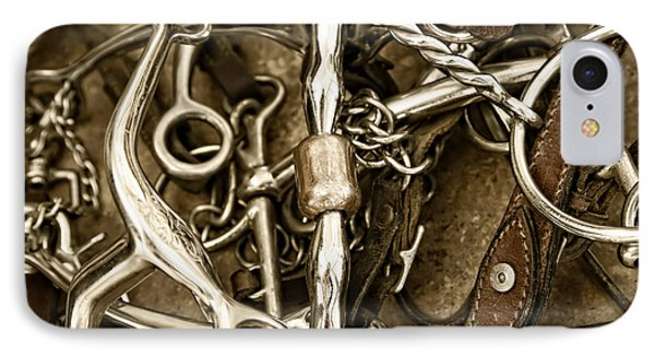 IPhone Case featuring the photograph Horse Bits And Reins And Ropes by Lincoln Rogers