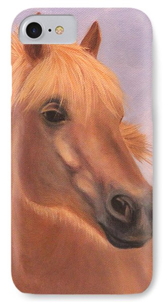 IPhone Case featuring the painting Horse Close-up by Janet Greer Sammons