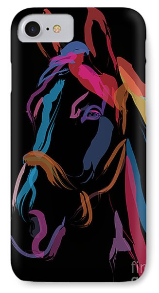 Horse-colour Me Beautiful Phone Case by Go Van Kampen