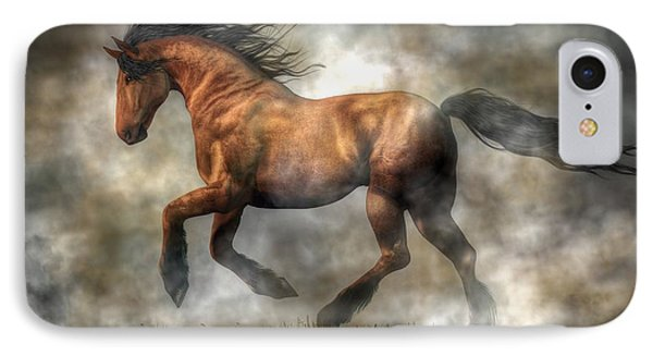 Horse IPhone Case by Daniel Eskridge
