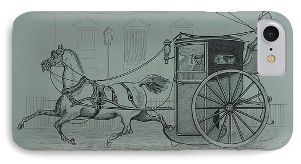 Horse Drawn Cab 1846 IPhone Case