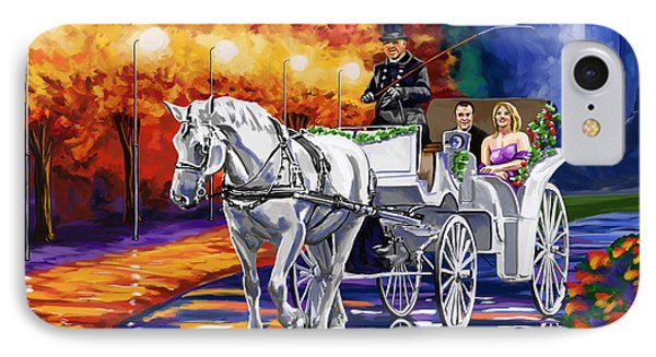 Horse Drawn Carriage Night Phone Case by Tim Gilliland