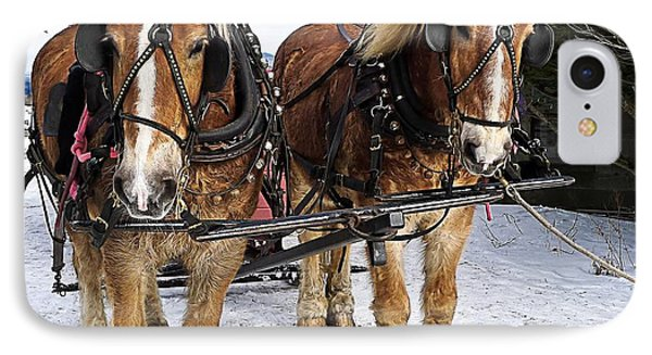Horse Drawn Sleigh Phone Case by Edward Fielding