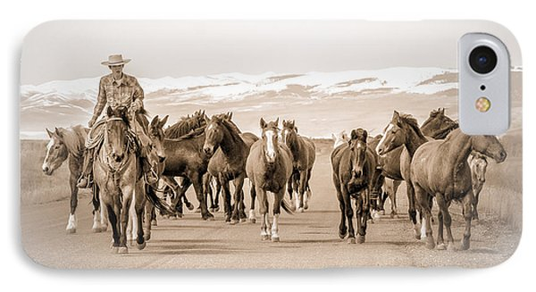 IPhone Case featuring the photograph Horse Drive by Yeates Photography