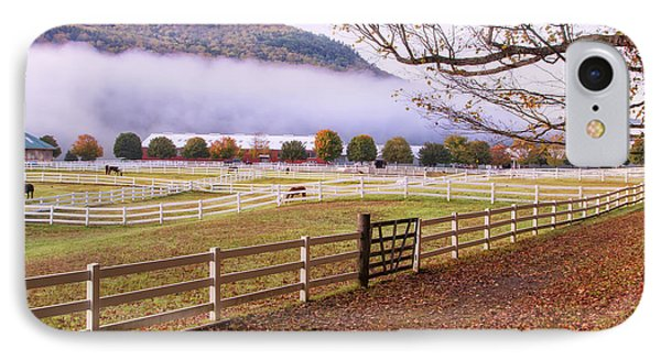 Horse Farm Autumn IPhone Case