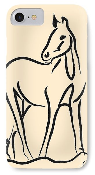 Horse - Grace IPhone Case by Go Van Kampen
