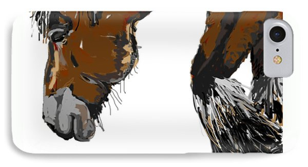horse - Guus IPhone Case by Go Van Kampen