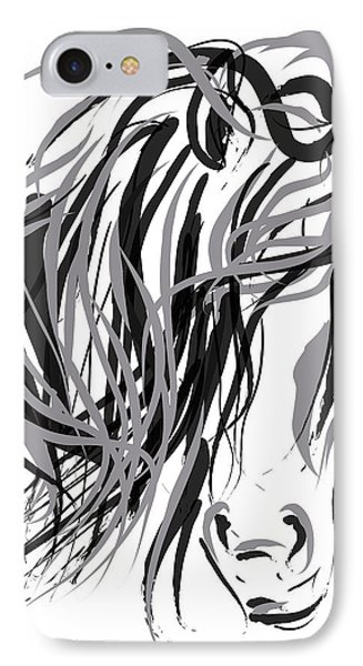 Horse- Hair And Horse IPhone Case by Go Van Kampen