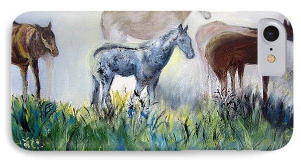Horses In The Fog IPhone Case