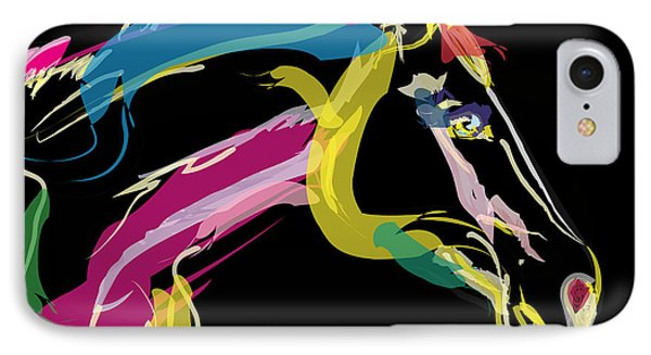 Horse- Lovely Colours IPhone Case by Go Van Kampen
