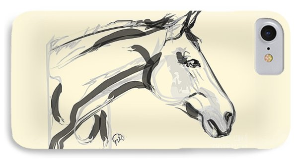 Horse - Lovely IPhone Case by Go Van Kampen