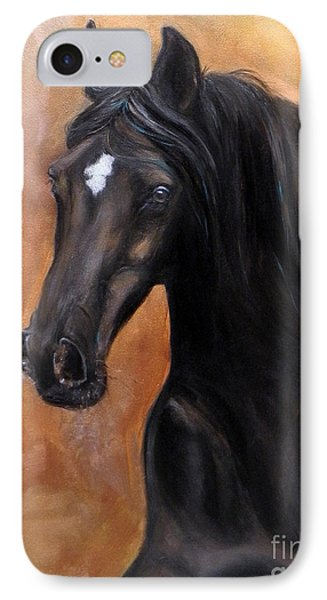 Horse - Lucky Star IPhone Case by Go Van Kampen