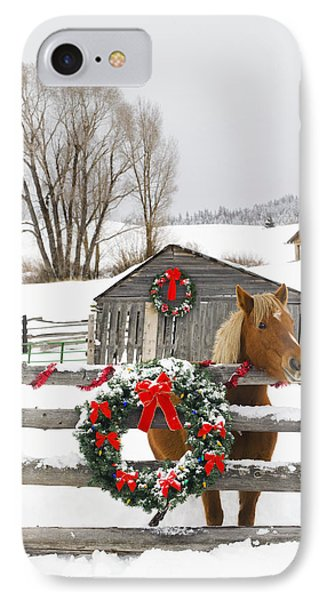 Horse On Soward Ranch Decorated For The IPhone Case by Michael DeYoung