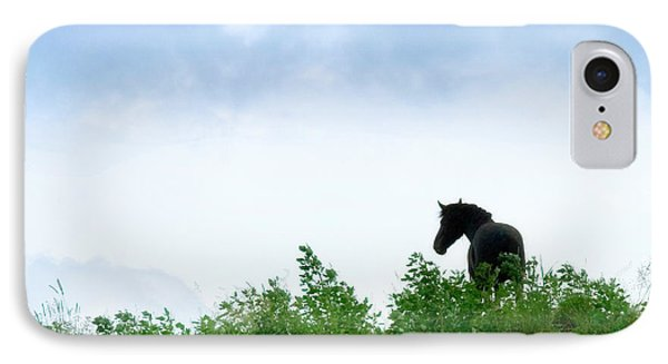 IPhone Case featuring the photograph Horse On The Hill by Joan Davis