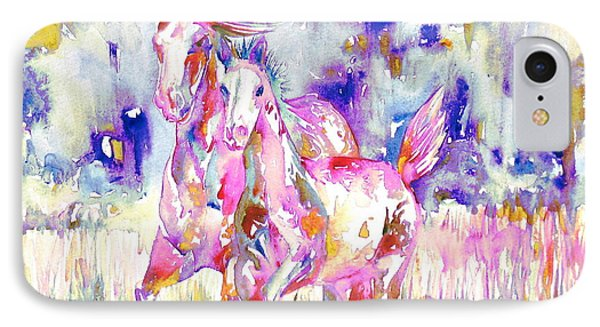 Horse Painting.16 Phone Case by Fabrizio Cassetta
