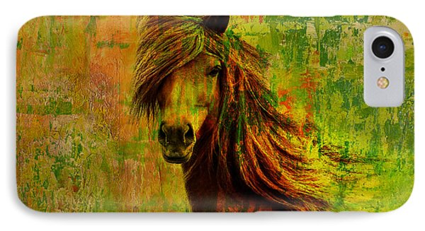 Horse Paintings 001 IPhone Case by Catf