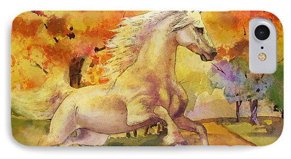 Horse Paintings 003 IPhone Case by Catf