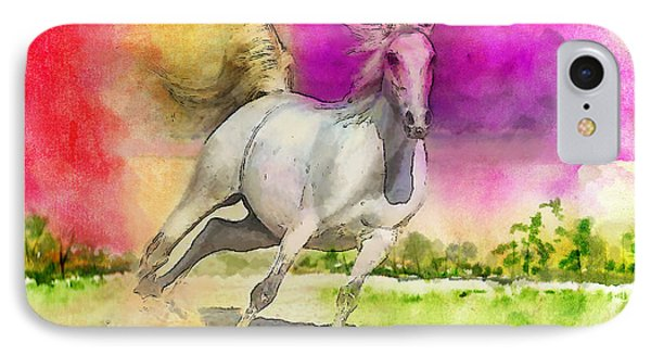 Horse Paintings 007 Phone Case by Catf