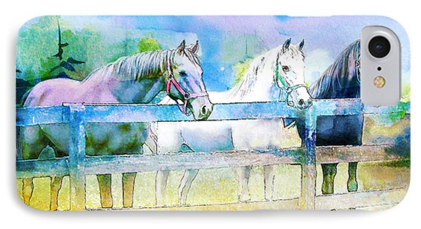 Horse Paintings 008 Phone Case by Catf