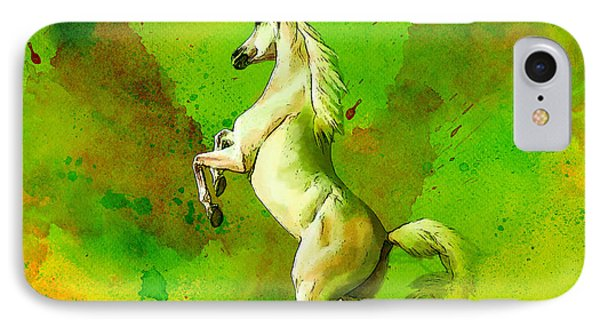 Horse Paintings 010 Phone Case by Catf