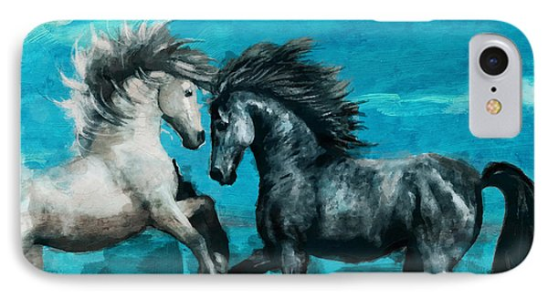 Horse Paintings 011 Phone Case by Catf