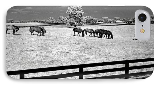IPhone Case featuring the photograph Horse Pasture Infrared by Martin Konopacki
