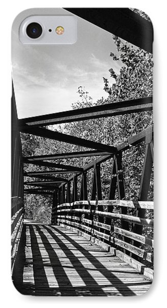 Horse Pen Creek Bridge Black And White Phone Case by Sandi OReilly