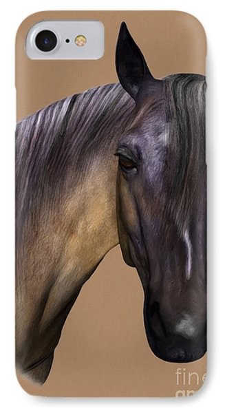 Horse Portrait IPhone Case by Walter Colvin