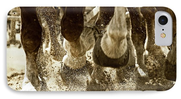 IPhone Case featuring the photograph Horse Power And Teamwork by Lincoln Rogers