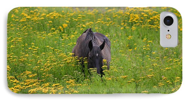 Horse Power Flower Power Phone Case by Bob Hislop