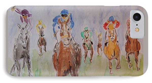Horse Race IPhone Case by Frank Middleton