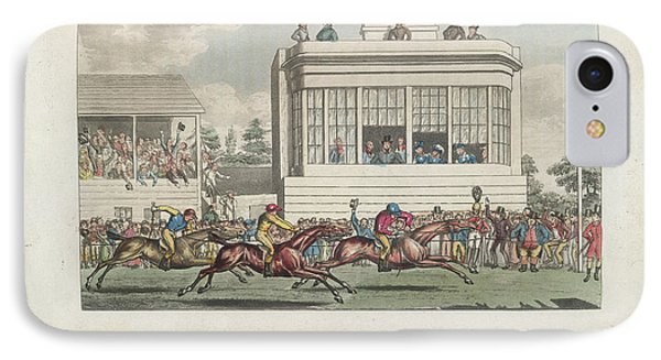 Horse Racing At Ascot IPhone Case by British Library