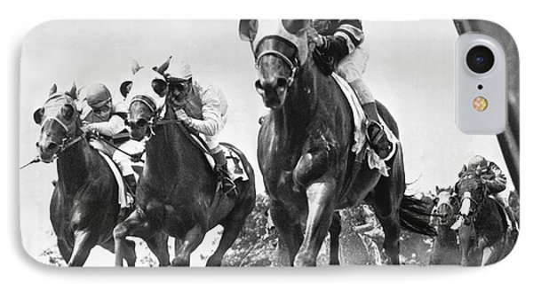 Horse Racing At Belmont Park IPhone Case