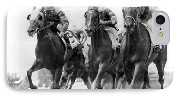 Horse Racing At Monmouth Park IPhone Case by Underwood Archives