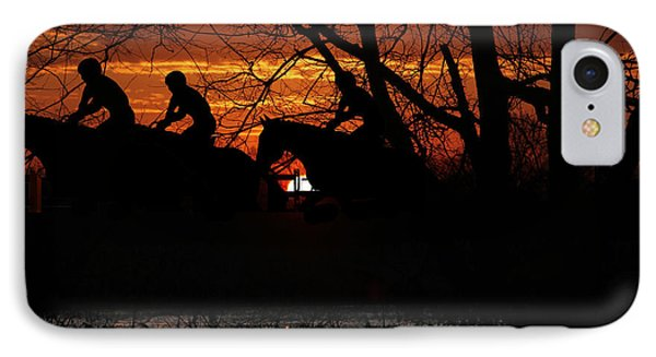 Horse Racing At Sun Downs - Featured In Comfortable Art And Nature Wildlife Groups Phone Case by EricaMaxine  Price