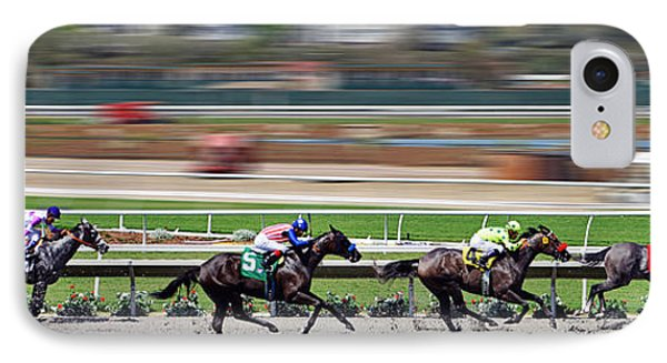 IPhone Case featuring the photograph Horse Racing by Christine Till