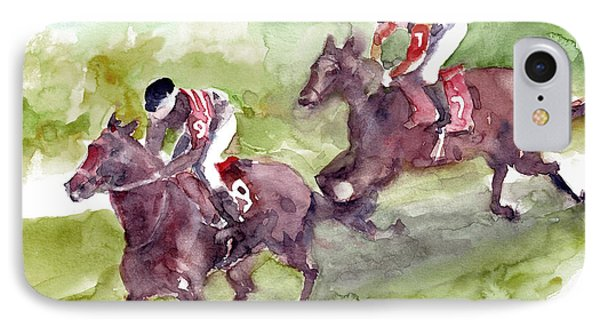 Horse Racing IPhone Case by Faruk Koksal