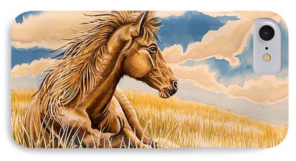 Horse Resting IPhone Case by Tish Wynne