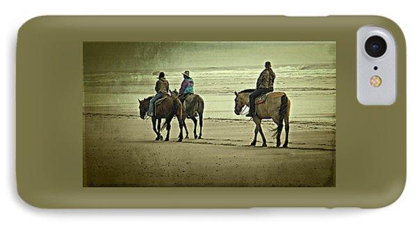 Horseback Riding On The Beach IPhone Case by Thom Zehrfeld